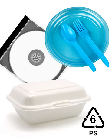 CD's  and Polystyrene Utensils